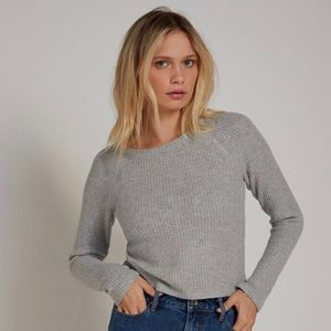 PacSun Me to We Gray Waffle Knit Long Sleeve Shirt